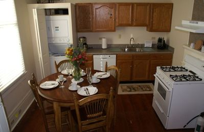 Spacious, light filled Kitchen is well equipped with modern appliances