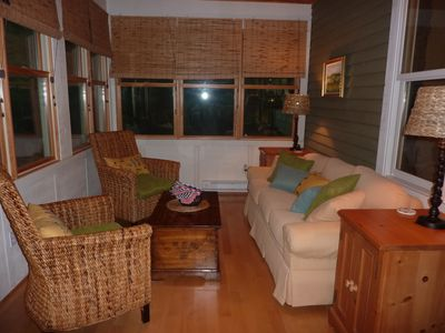 Sunroom. Great for relaxing or playing family games.