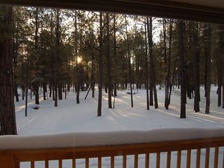 Williams cabin photo - Winter Sunrise at Raccoon Ranch