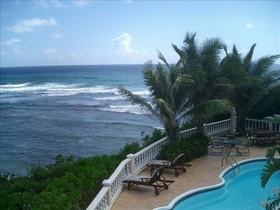 Private Pool and Deck overlooking the Sea at Paradise Point, St. Croix, US Virg