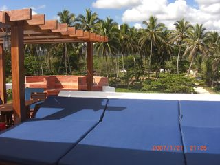 Rooftop sun beds and pergola - June 2012 - Cabarete villa vacation rental photo