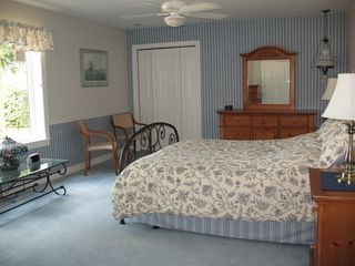Guest Suite patio side with attached full bath shared with bunk room - Lake Anna house vacation rental photo