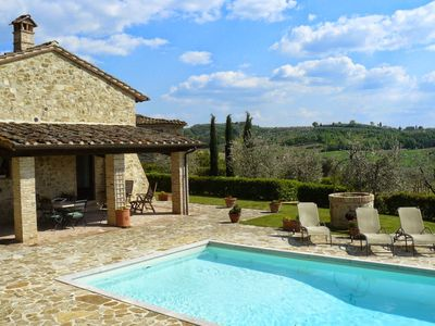 Anticopozzo Independent house for rent with swimming pool in Poggibonsi