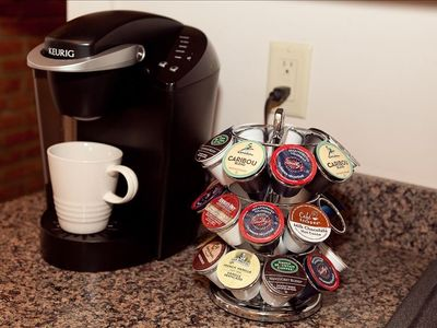 Keurig coffee maker and many delicious flavors