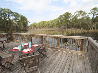 Blue Mountain Beach condo rental - Boardwalk overlooking Big Redfish Lake
