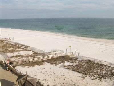 View Of The Beach and Gulf From The Porch. White Sand As Far As You Can See