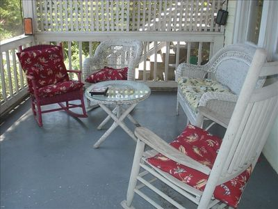 Comfortable Porch Seating for up to 12 people