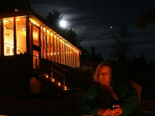 Edwards house photo - Campfire, Lighted Porch & Moon Rise