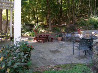 Lenox house photo - Gorgeous bluestone patio off kitchen is private, shady and tranquil