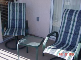 Port St. Lucie condo photo - Balcony overlooking pool and garden