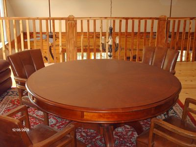 Loft Game table with leather chairs