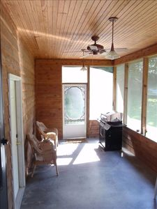 Just enjoy relaxing & grilling on the front screened porch