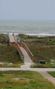 Private boardwalk makes walking to the beach a breeze!