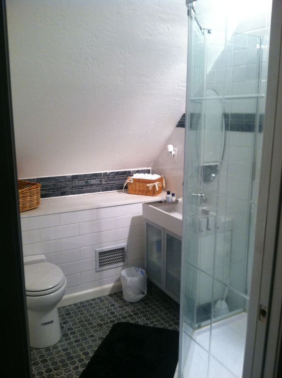 Upper floor bathroom is brand-new and bright!