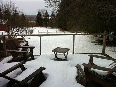View off the deck in the winter