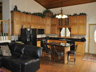 Colton house photo - Large, Fully Appointed Kitchen with Great Views of the Water.