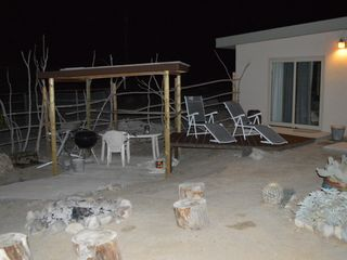 Borrego Springs house photo - Relaxing rear yard, firepit, BBQ, etc.