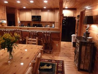Entertain up to 13: 8 table and 5 stools - Pigeon Forge cabin vacation rental photo