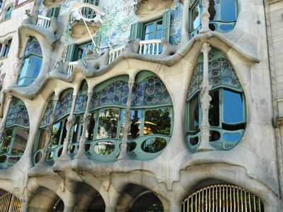 Detail of Casa Batllo by Gaudi