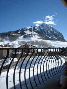 The gorgeous view of Mount Crested Butte from the walk out balcony!