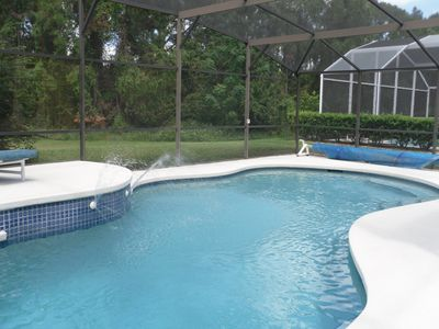 Private villa pool.. Conservation woodland area the to rear