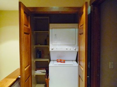 Washer and Dryer Inside Your Townhome