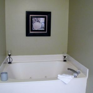 Master bath- relax in the whirlpool tub.
