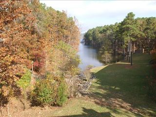 Lake Ouachita condo photo - View of lake from deck in the fall