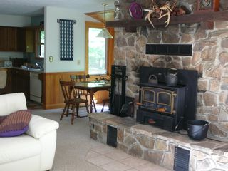 Canaan Valley cabin photo - Wood stove (wood provided) for cosy winter days and nights