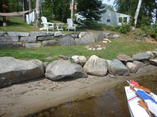 Lunenburg cabin photo - Beach area and fire pit