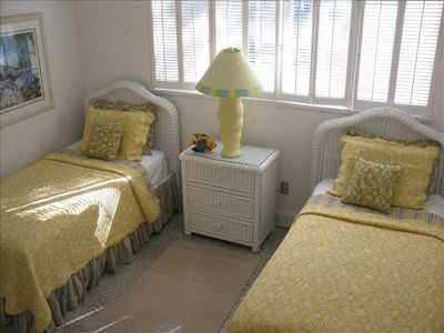 The 3rd bedroom has twin beds and plenty of sunshine!