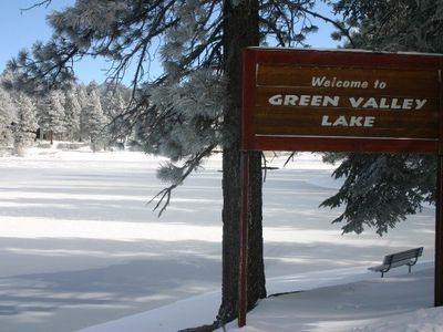 The Lake and this sign will welcome you! Almost to your vacation home...