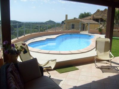 house with private swimming pool/ villa - Chia - domus de maria
