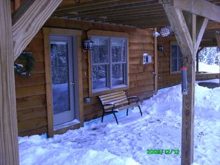 Carrabassett Valley condo photo - Downstairs Patio off Suite