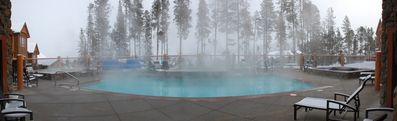Heated pool and three large hot tubs