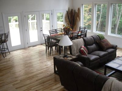 Hidden Valley house rental - Dining/ Deck Area overlooks the beautiful Laurel Highlands