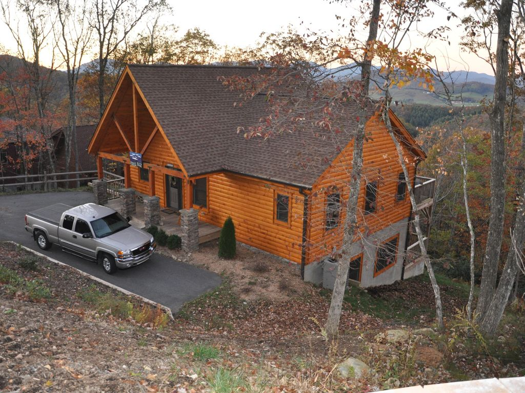 Purple Haze Log Cabin Near Blue Ridge Pky Vrbo