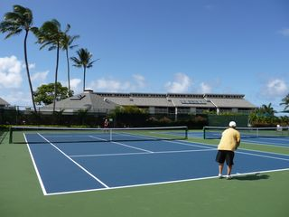 Princeville condo photo - Beautiful tennis courts also free for guests.