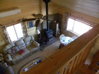 Grand Canyon cabin photo - View from loft to Great Room