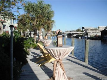 Dockside elegance...ready for guests!
