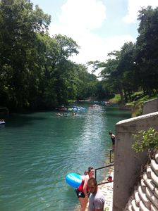 Looking upstream at the Comal river