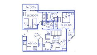 Palace Resort condo photo - Floor Plan of Condo