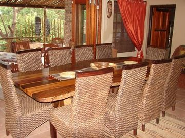 Dining room overlooking veranda