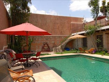 Antigua chateau / country house rental - Large heated pool.