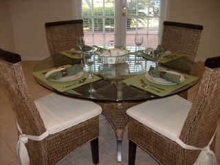 Dining can comfortably seat up to six! - Siesta Key house vacation rental photo