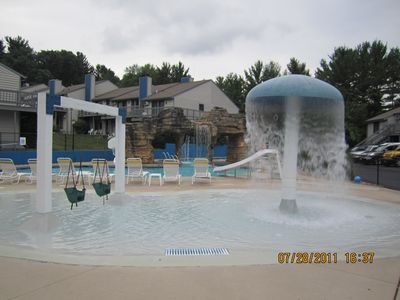 Kids play area at the pool