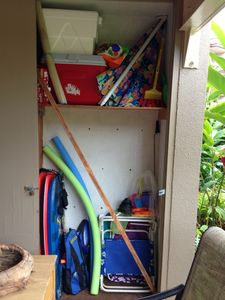 Honokowai condo rental - Closet full of beach supplies - you're welcome to use them