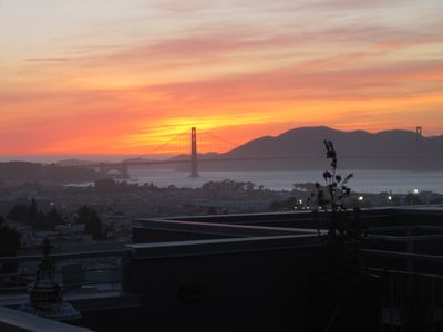 sunset from the roof deck