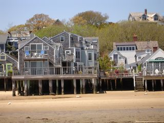 Provincetown condo photo - View from the beach at low tide - unit is upstairs with the blue chairs