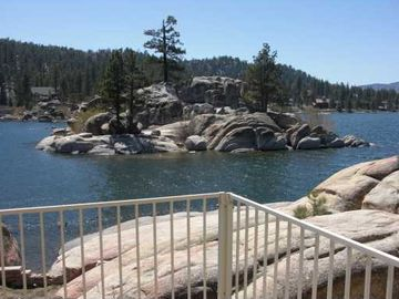 Big Bear Lake house rental - View from Living Room Deck